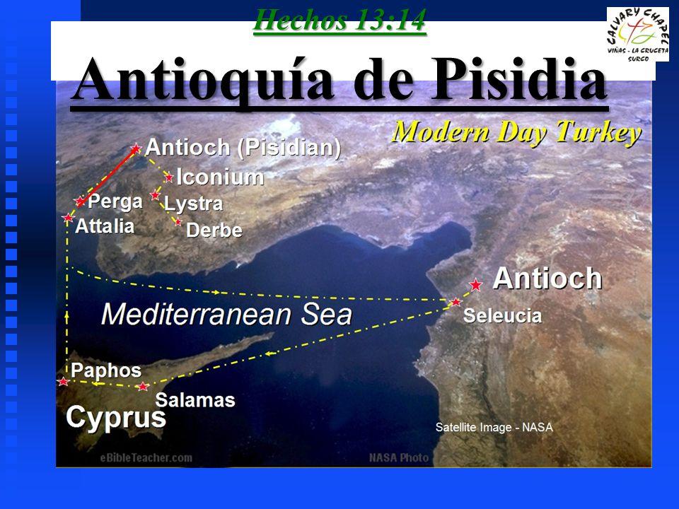 Hechos 13:14 Antioquía de Pisidia