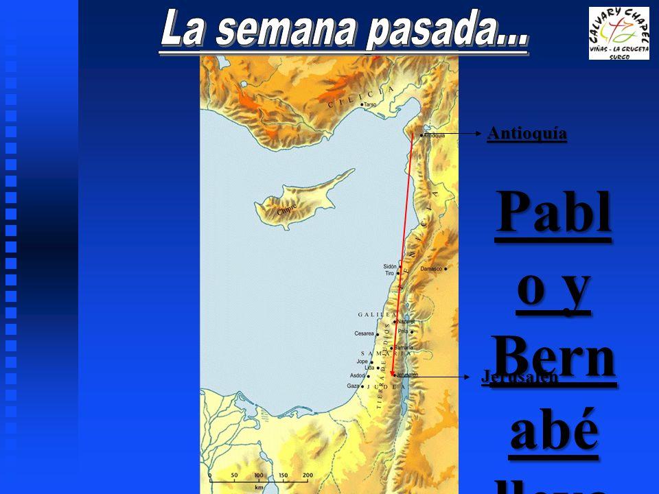 Pablo y Bernabé llevan la ayuda a la iglesia en Jerusalén