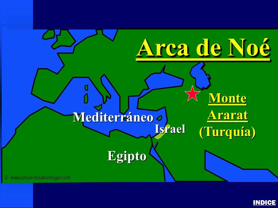 Arca de Noé Monte Ararat (Turquía) Mediterráneo Egipto Israel INDICE