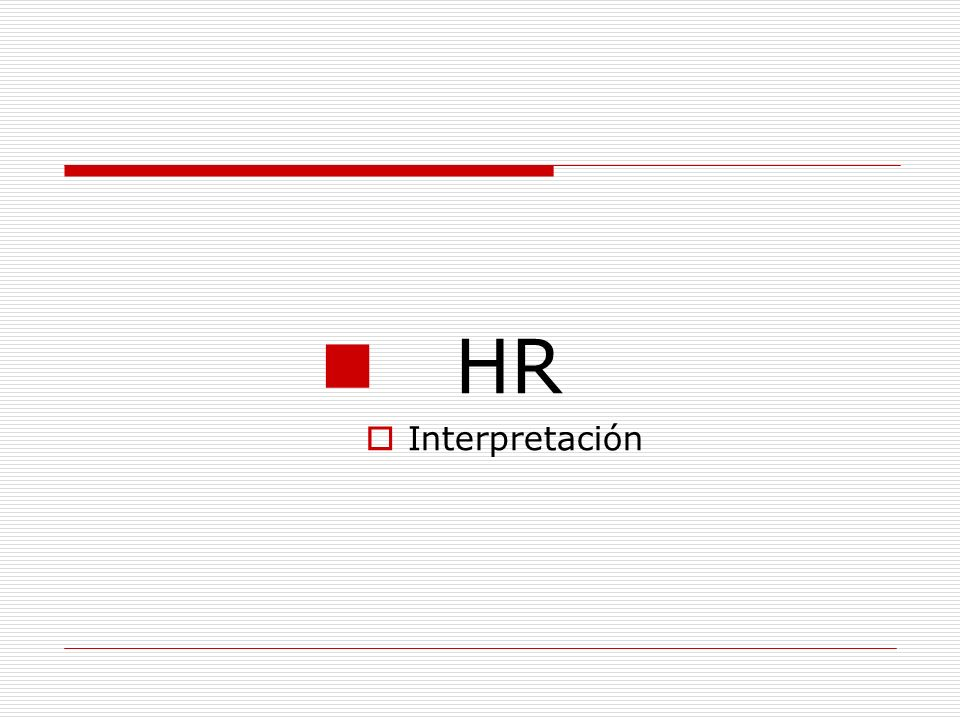HR Interpretación
