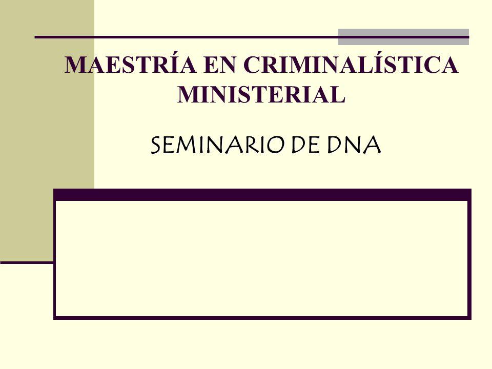 MAESTRÍA EN CRIMINALÍSTICA MINISTERIAL
