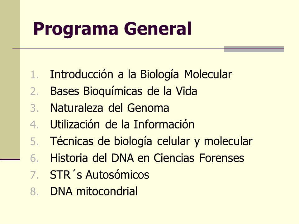 Programa General Introducción a la Biología Molecular