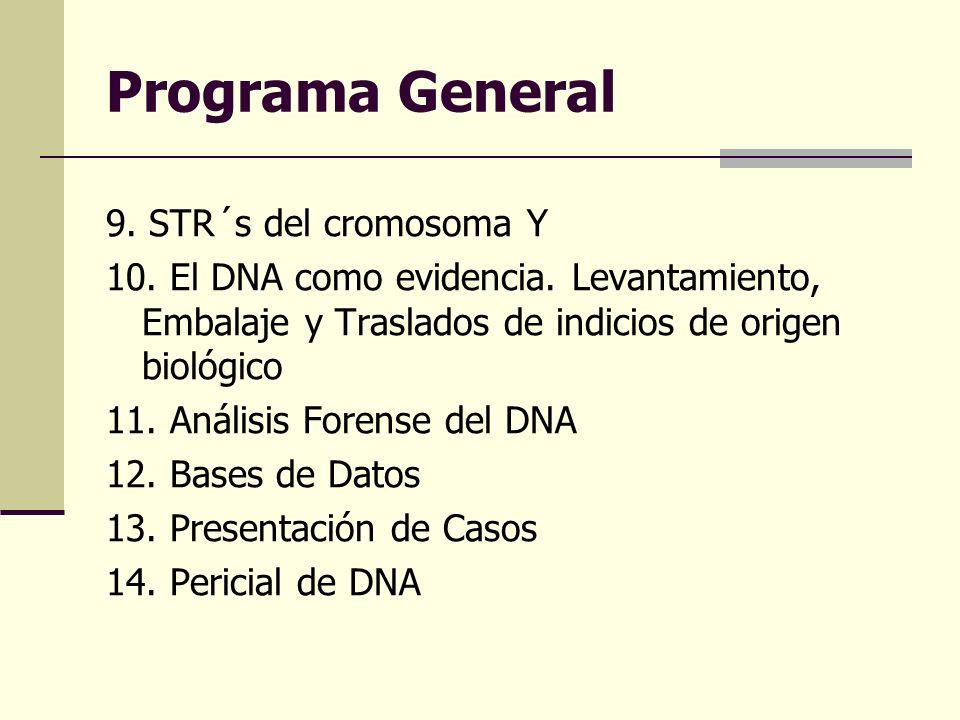 Programa General 9. STR´s del cromosoma Y