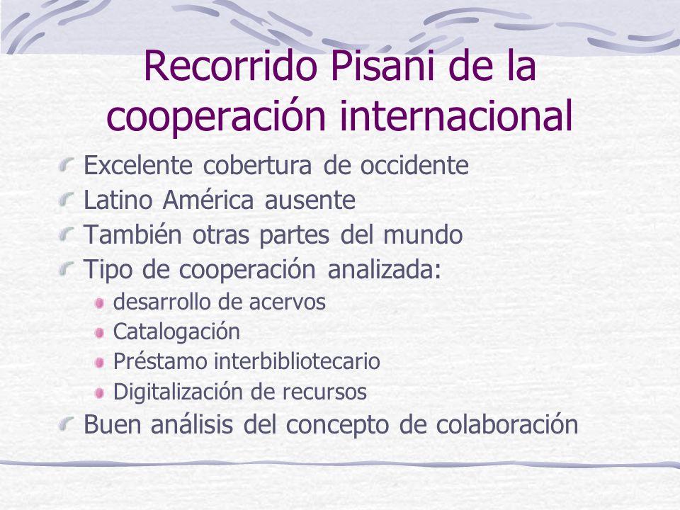 Recorrido Pisani de la cooperación internacional