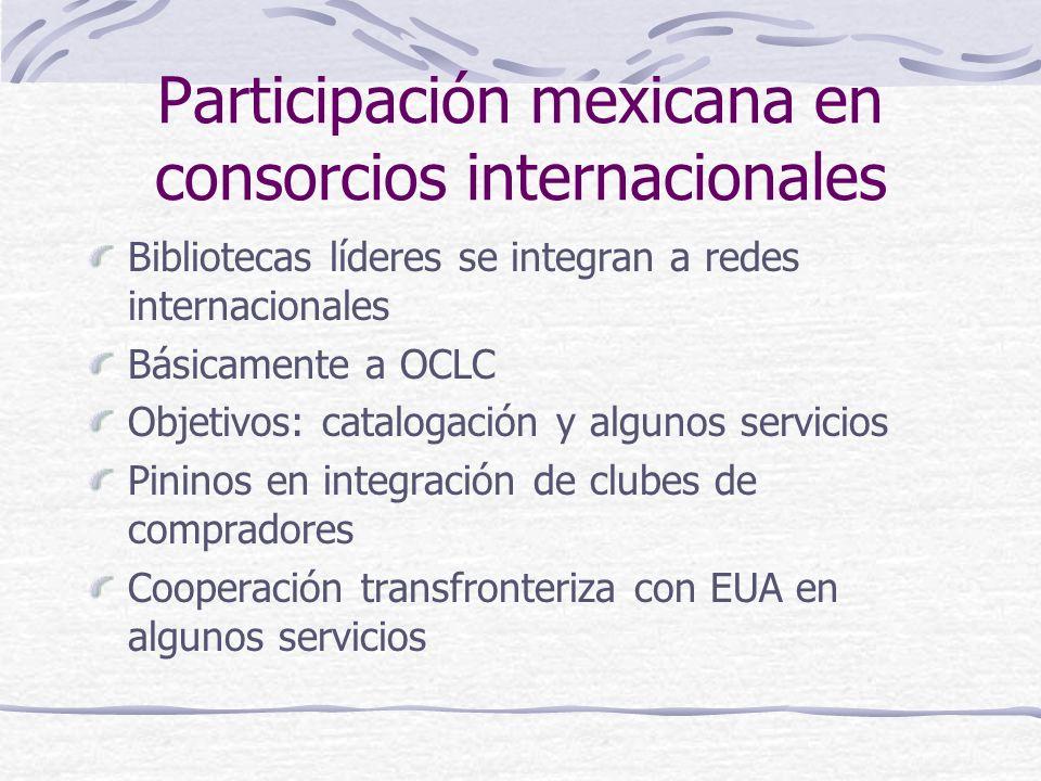 Participación mexicana en consorcios internacionales