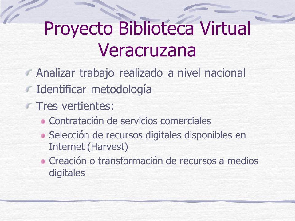 Proyecto Biblioteca Virtual Veracruzana