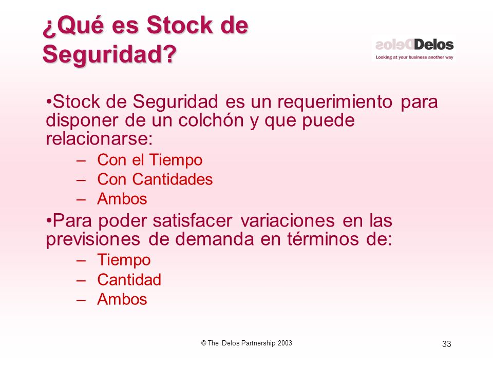 ¿Qué es Stock de Seguridad