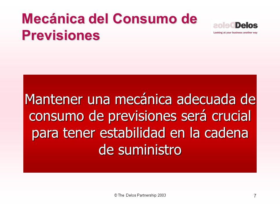 Mecánica del Consumo de Previsiones