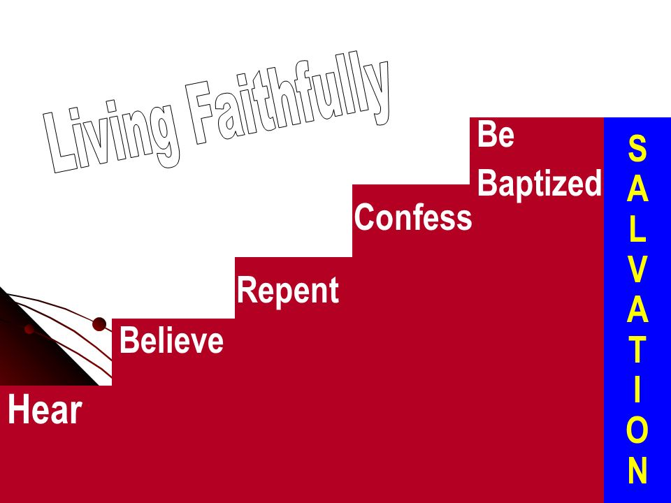 Hear Be S A L V A T I O N Baptized Confess Repent Believe