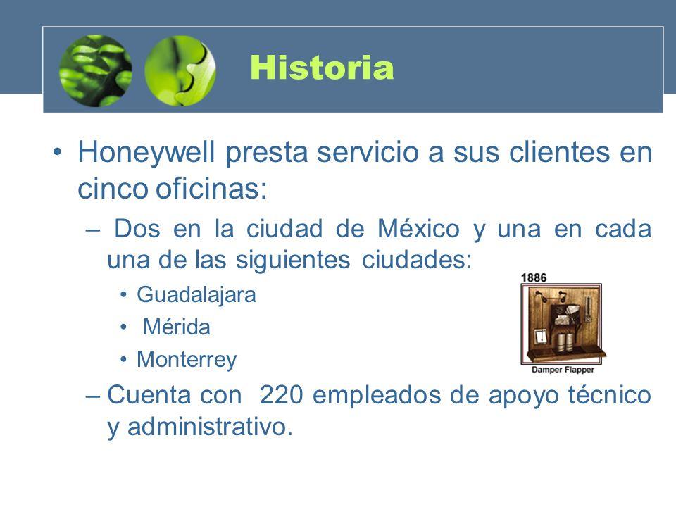 Historia Honeywell presta servicio a sus clientes en cinco oficinas: