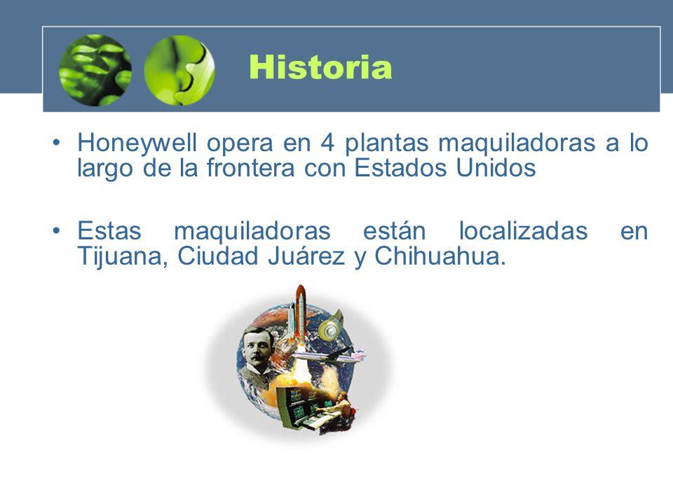 Historia Honeywell opera en 4 plantas maquiladoras a lo largo de la frontera con Estados Unidos.