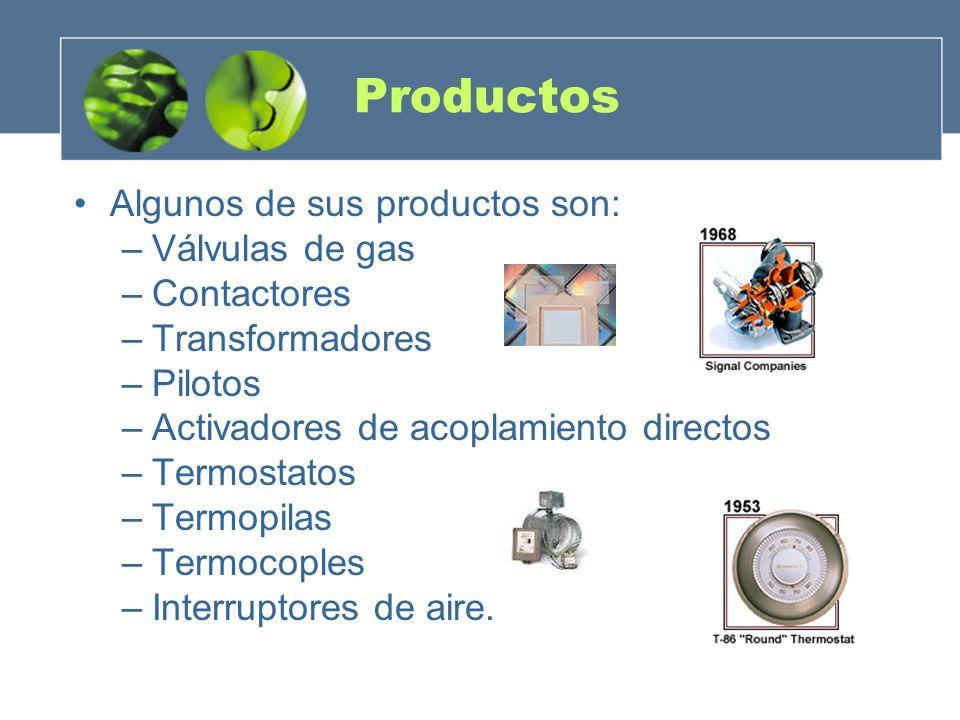 Productos Algunos de sus productos son: Válvulas de gas Contactores