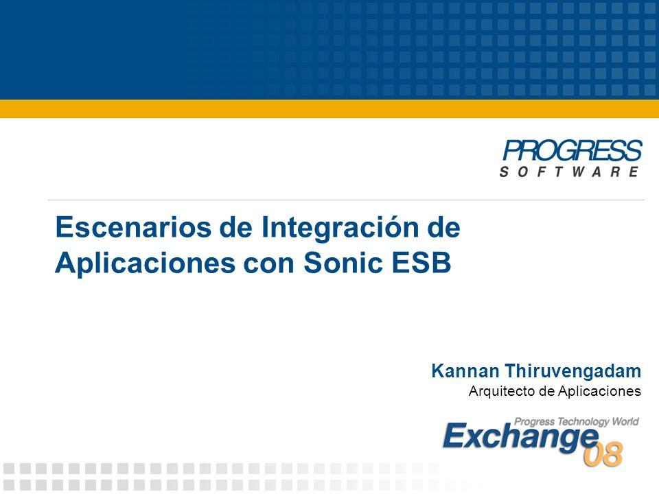 Escenarios de Integración de Aplicaciones con Sonic ESB