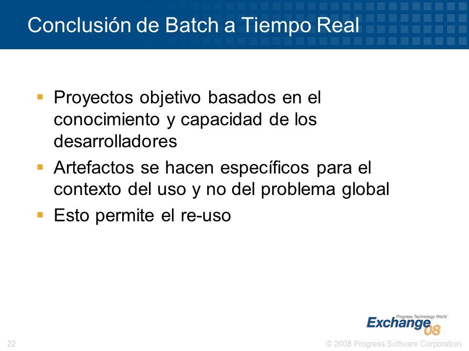 Conclusión de Batch a Tiempo Real