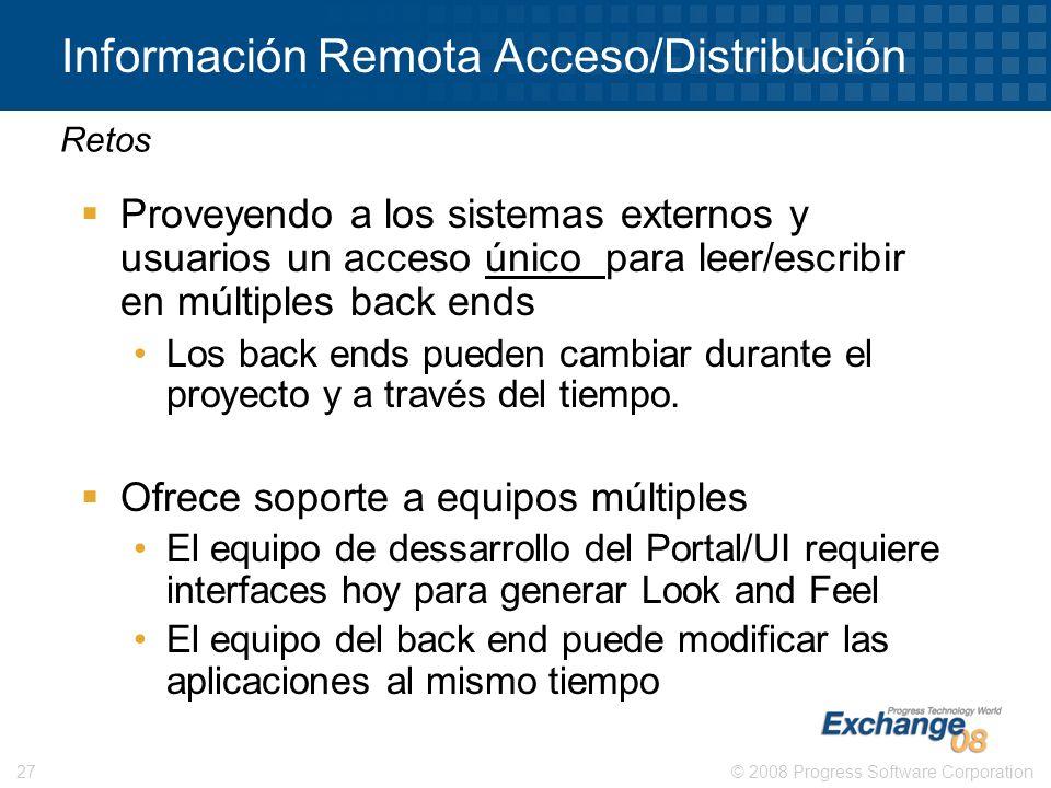 Información Remota Acceso/Distribución