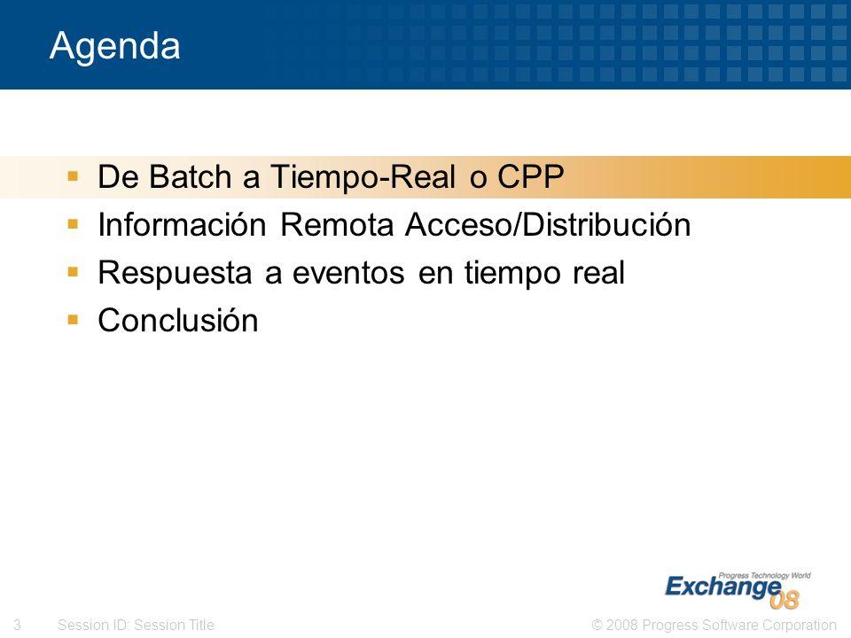 Agenda De Batch a Tiempo-Real o CPP