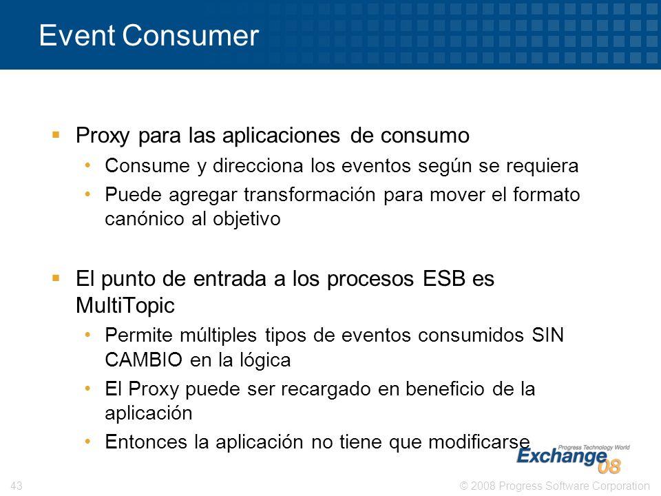 Event Consumer Proxy para las aplicaciones de consumo