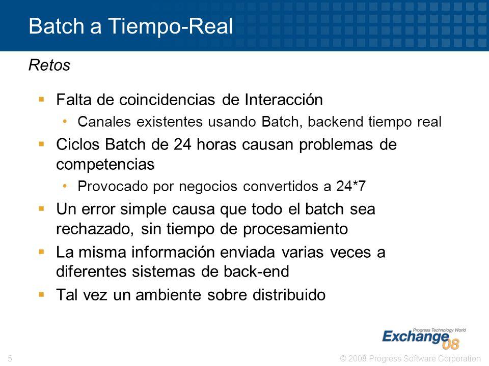Batch a Tiempo-Real Retos Falta de coincidencias de Interacción