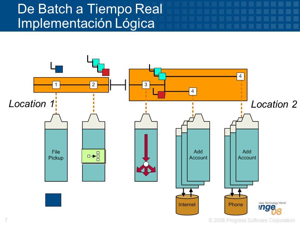 De Batch a Tiempo Real Implementación Lógica