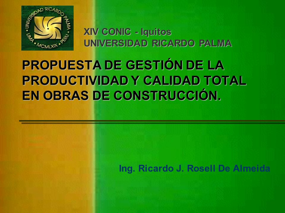 Ing. Ricardo J. Rosell De Almeida