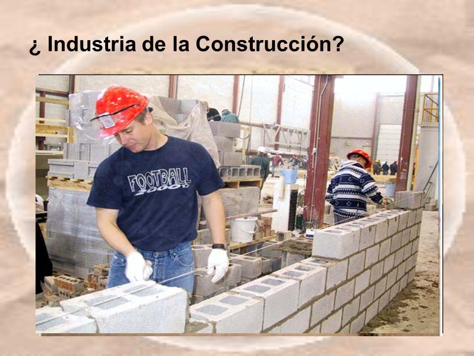 ¿ Industria de la Construcción