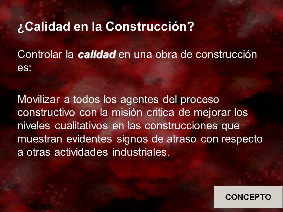 ¿Calidad en la Construcción