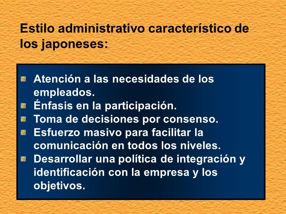 Estilo administrativo característico de los japoneses: