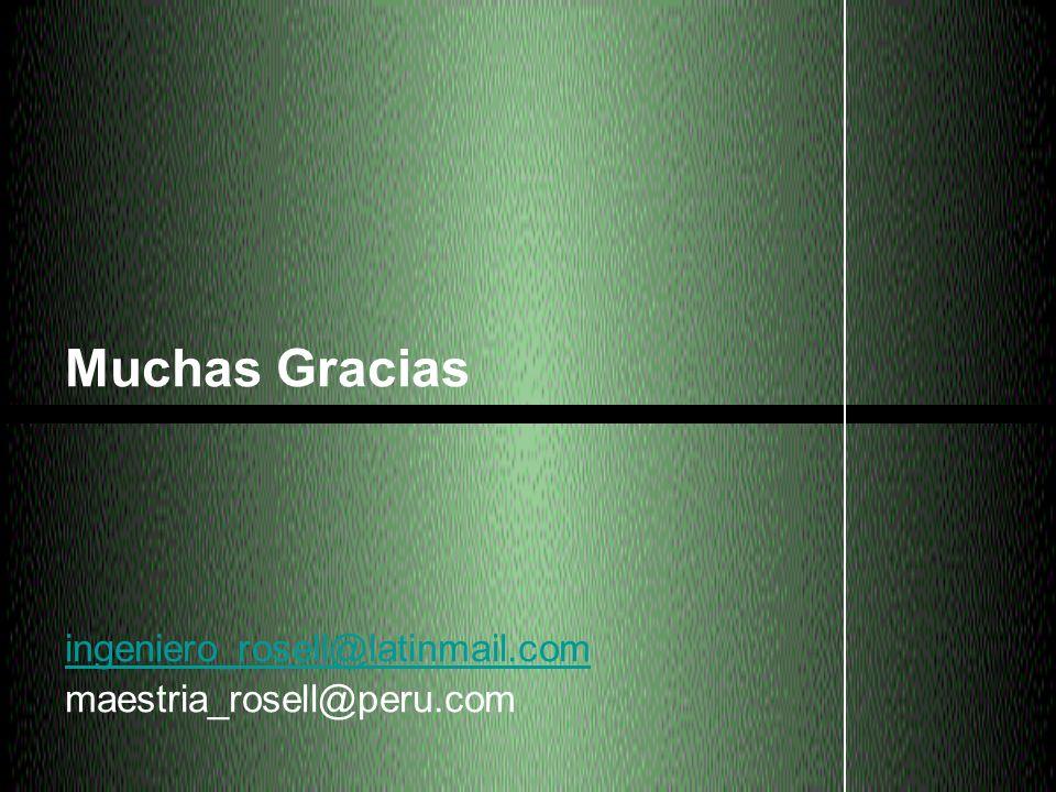 Muchas Gracias ingeniero_rosell@latinmail.com maestria_rosell@peru.com