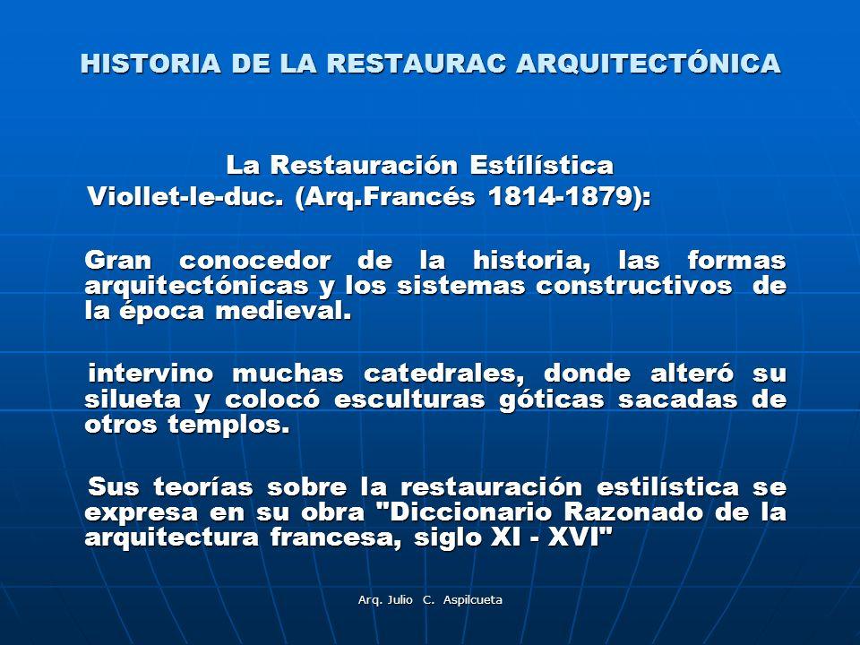 HISTORIA DE LA RESTAURAC ARQUITECTÓNICA