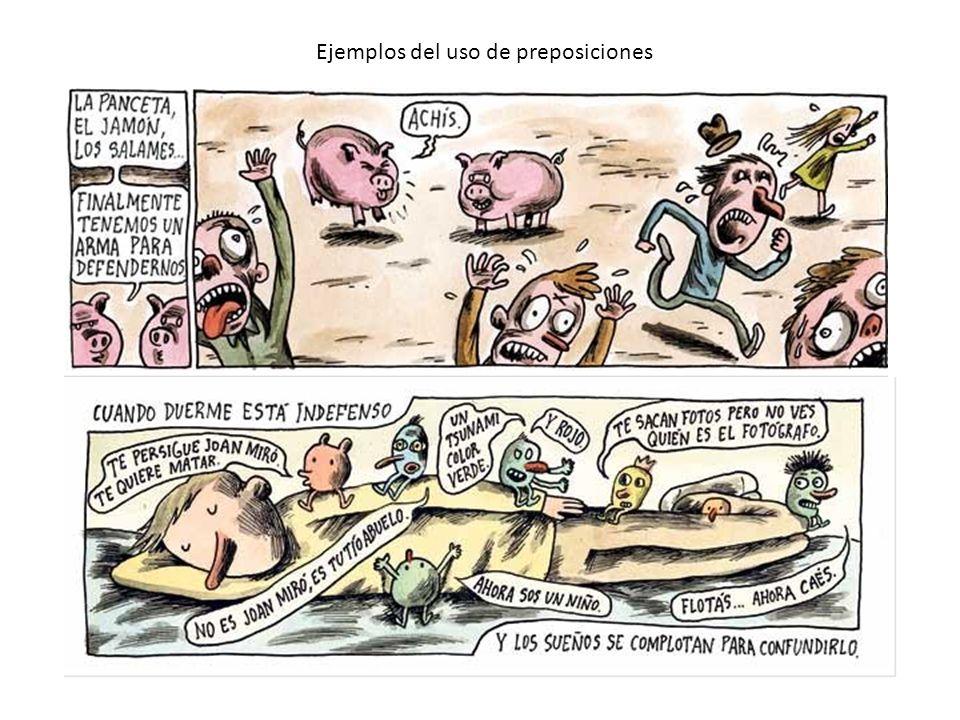 Ejemplos del uso de preposiciones