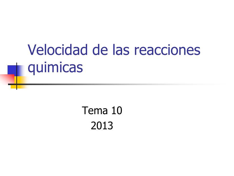 Velocidad de las reacciones quimicas