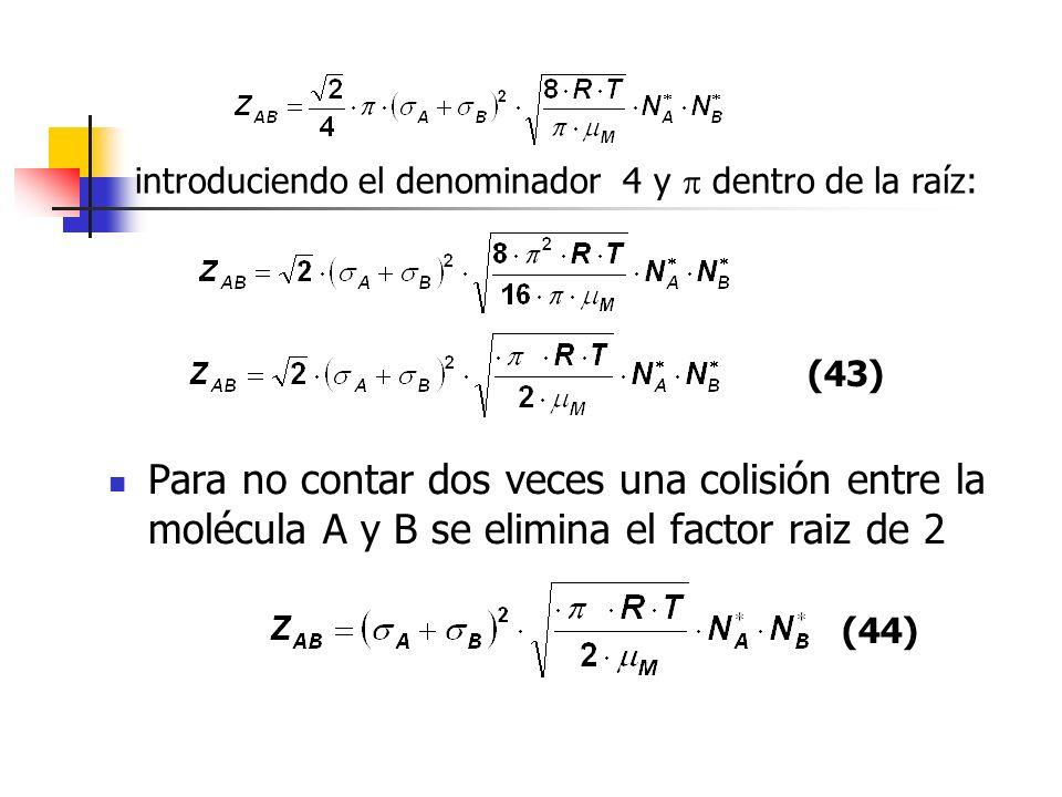 introduciendo el denominador 4 y  dentro de la raíz: