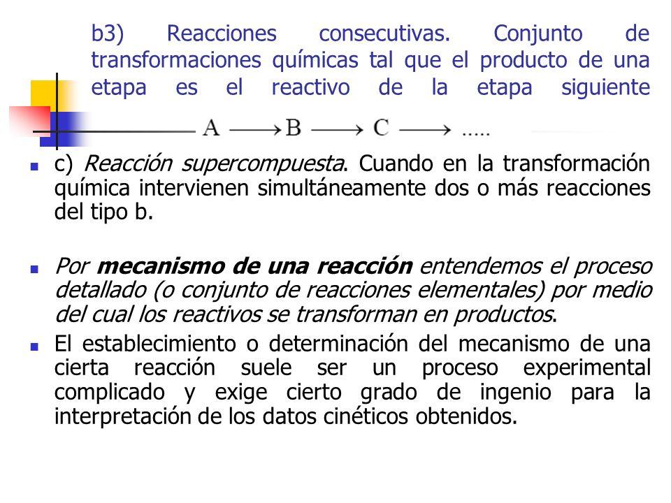 b3) Reacciones consecutivas