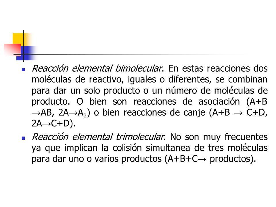 Reacción elemental bimolecular
