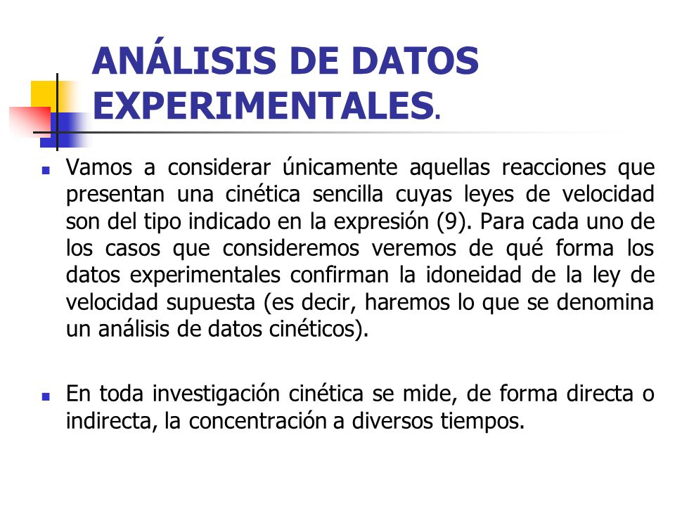 ANÁLISIS DE DATOS EXPERIMENTALES.