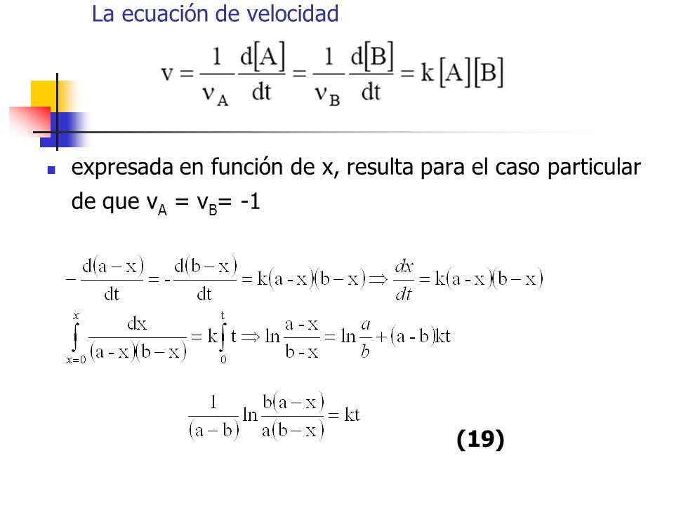 La ecuación de velocidad
