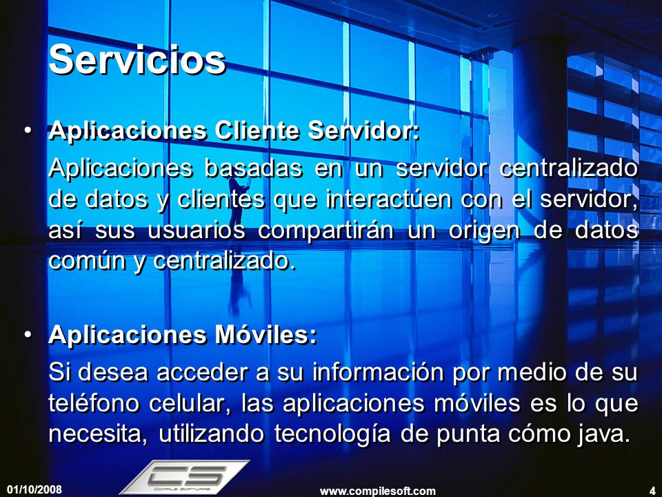 Servicios Aplicaciones Cliente Servidor: