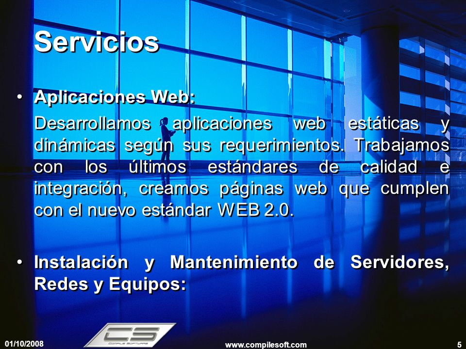 Servicios Aplicaciones Web: