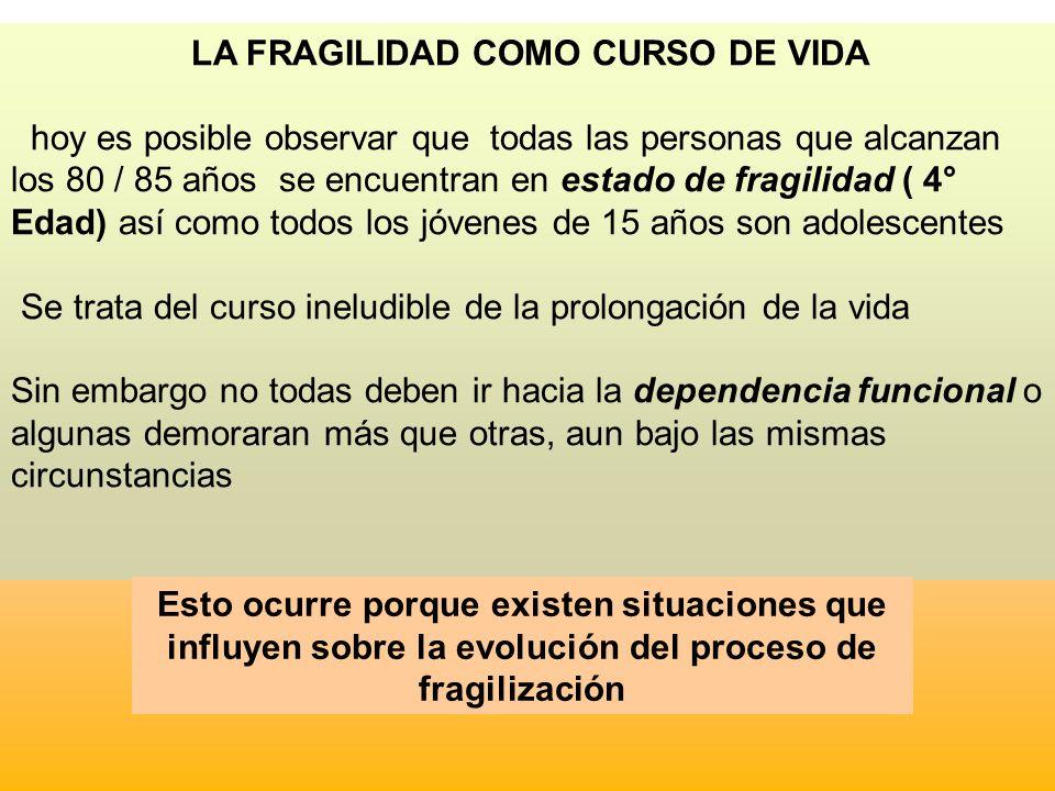 LA FRAGILIDAD COMO CURSO DE VIDA
