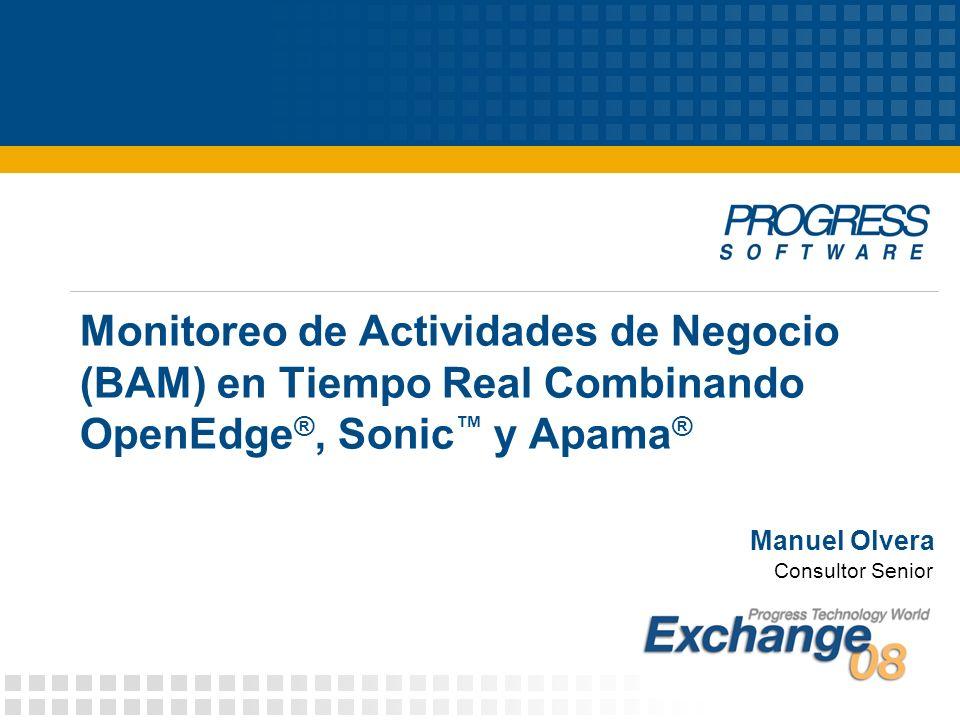 Monitoreo de Actividades de Negocio (BAM) en Tiempo Real Combinando OpenEdge®, Sonic™ y Apama®