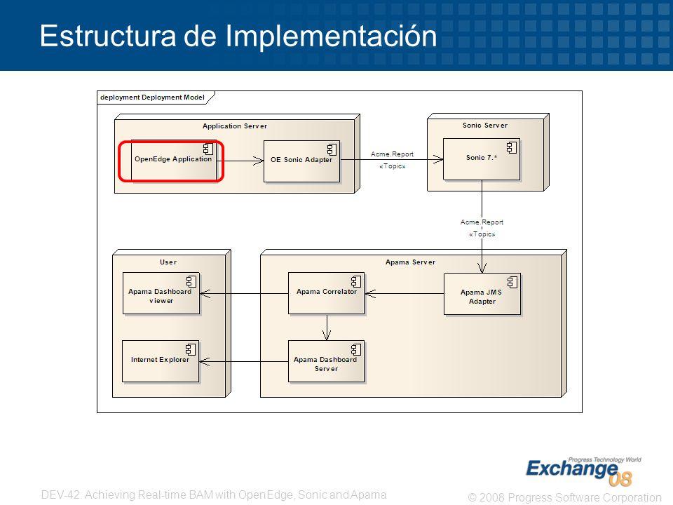 Estructura de Implementación