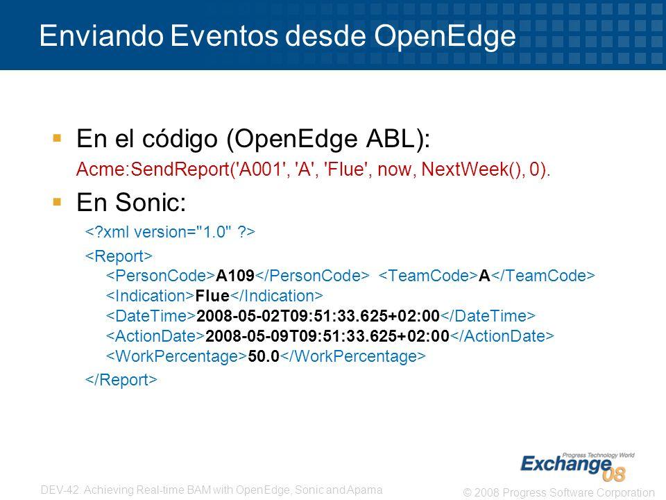 Enviando Eventos desde OpenEdge