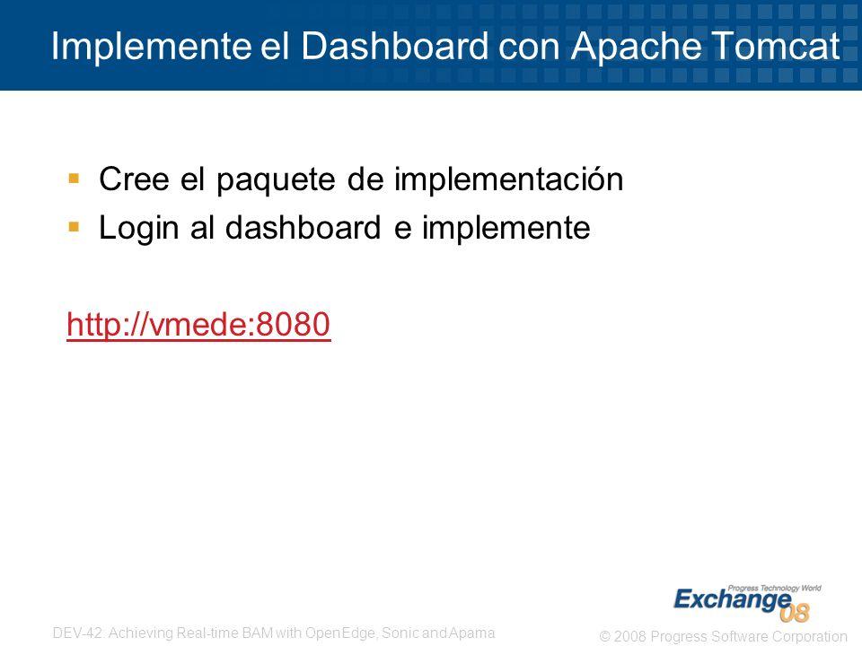 Implemente el Dashboard con Apache Tomcat