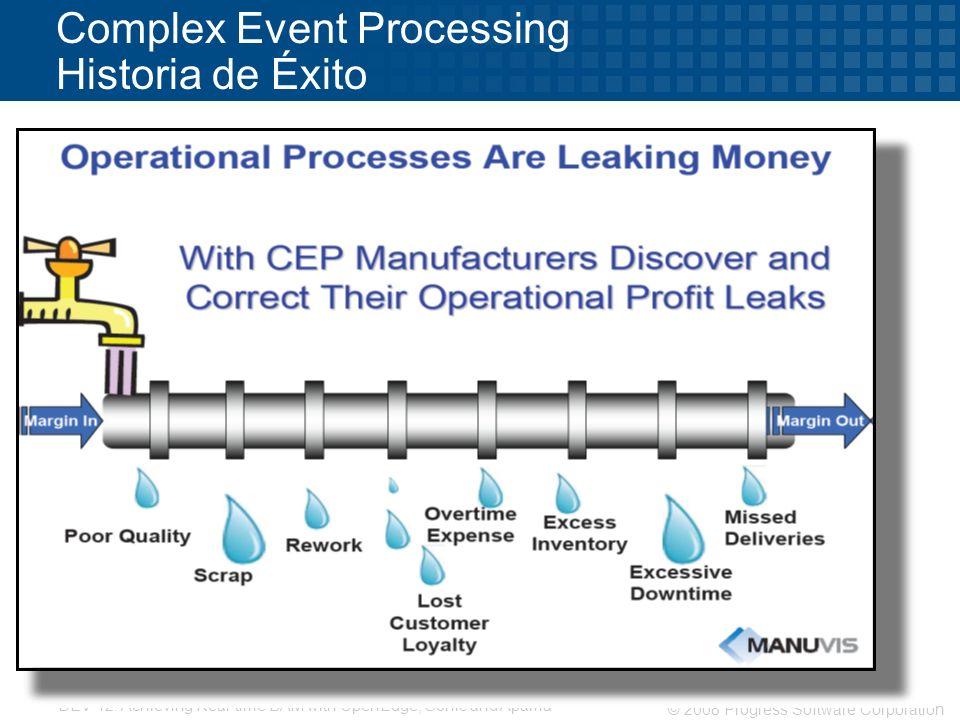 Complex Event Processing Historia de Éxito
