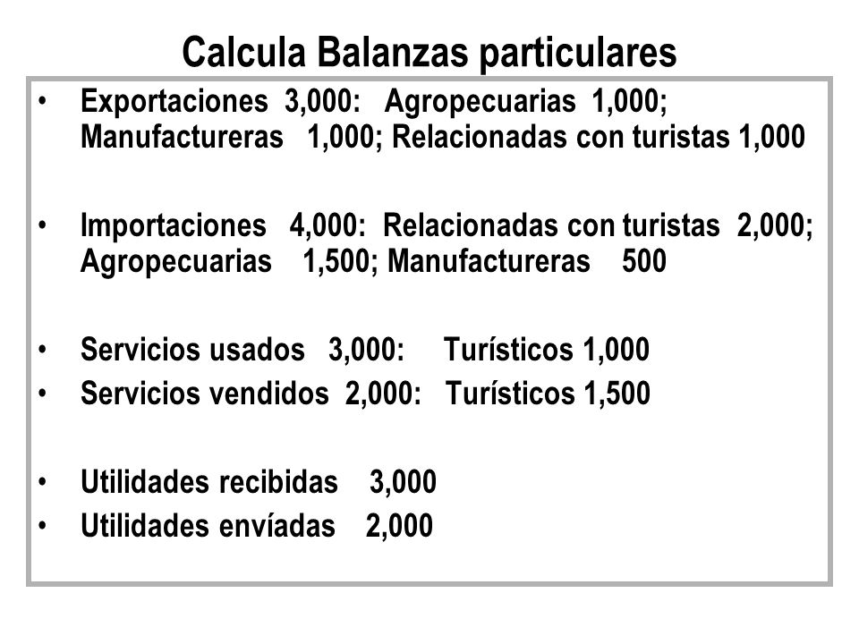 Calcula Balanzas particulares