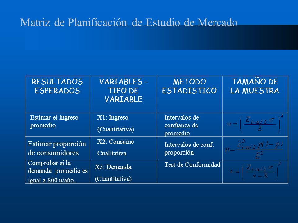 VARIABLES – TIPO DE VARIABLE