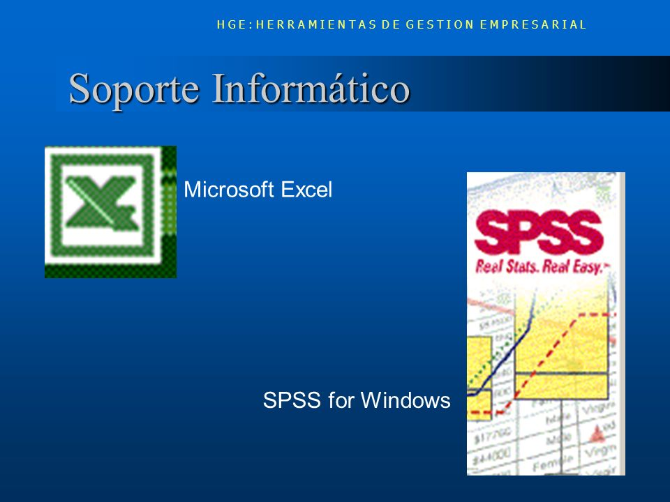 Soporte Informático Microsoft Excel SPSS for Windows