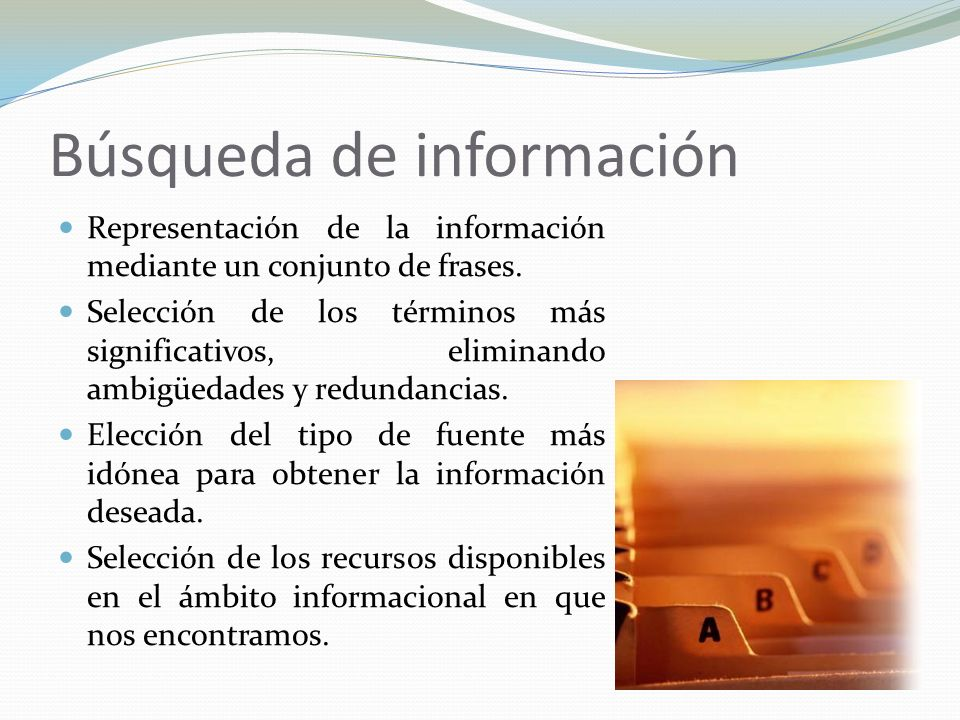 Búsqueda de información