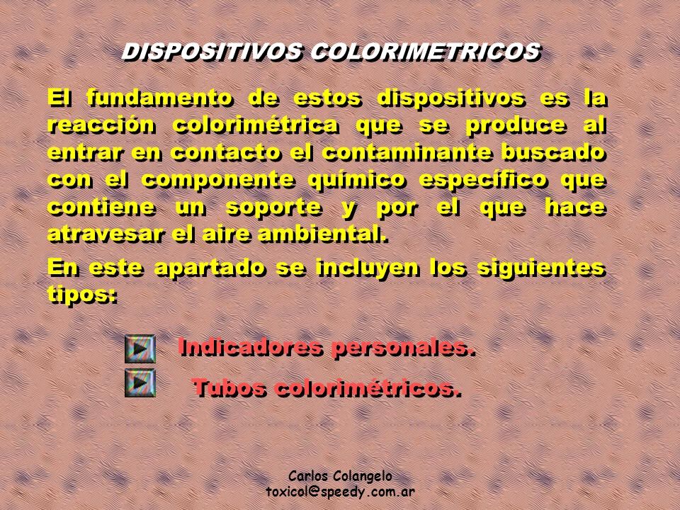DISPOSITIVOS COLORIMETRICOS