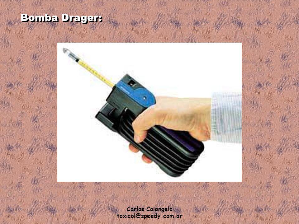Bomba Drager: Carlos Colangelo toxicol@speedy.com.ar